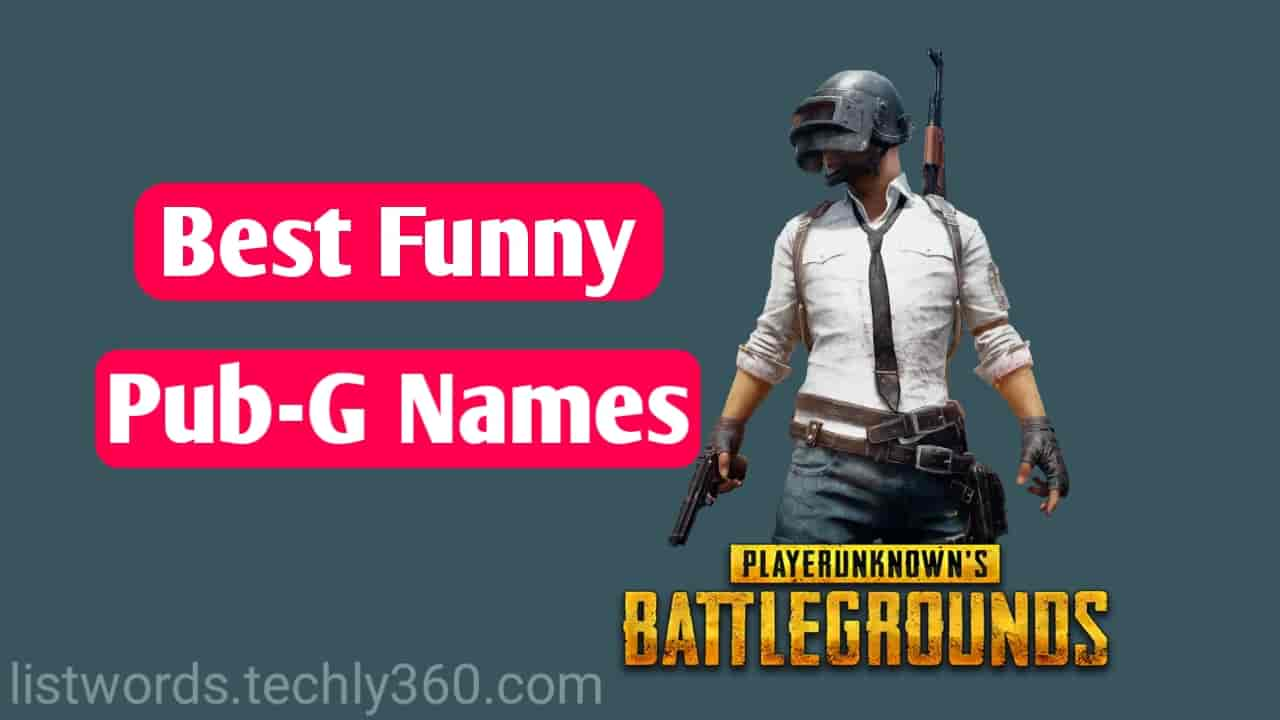 100+ Funny PUBG Names || Latest Funny Names For PUBG 2019