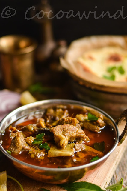Mutton Curry inspired by Mutton Ghee Roast - Cocoawind