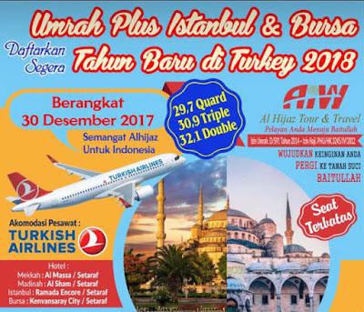 biaya umroh plus turki desember 2017