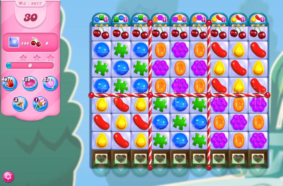 Candy Crush Saga level 9677