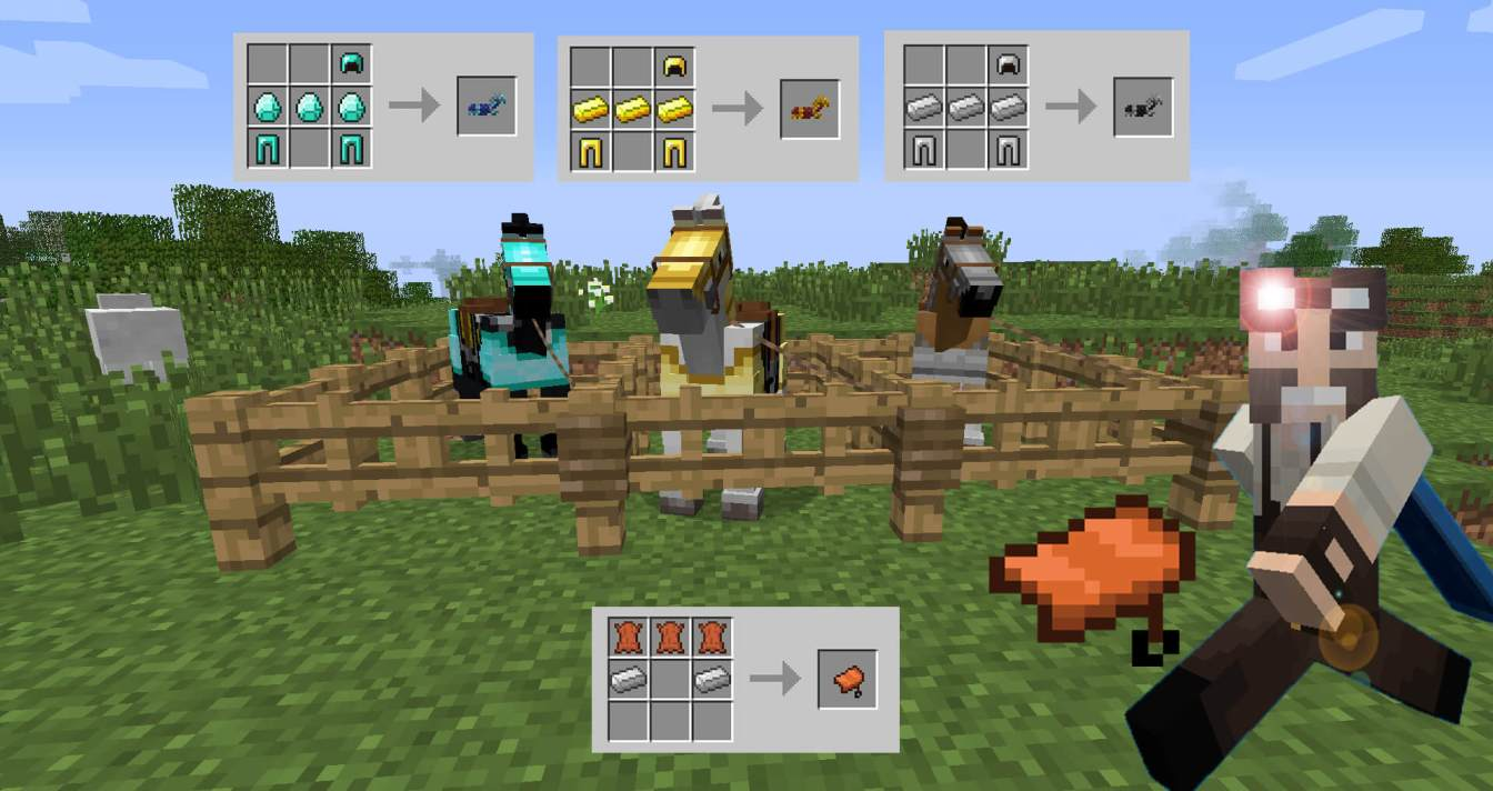 Ways to make a saddle in Minecraft