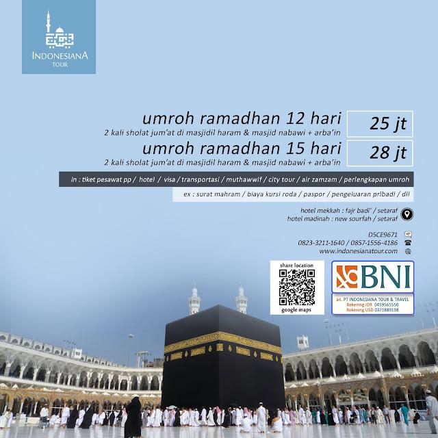 UMROH RAMADHAN 12 HARI DAN 15 HARI