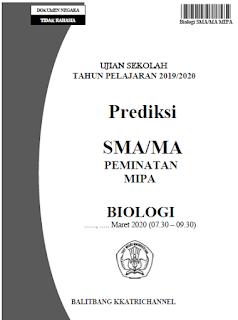 Soal Prediksi Ujian Sekolah Biologi (US) SMA tahun 2020