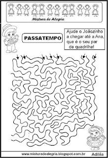 Atividades festa junina labirinto