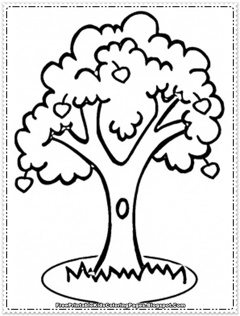 Coloring sheets of fruit trees - Apple Coloring Pages To Print Apple Tree Coloring Pages
