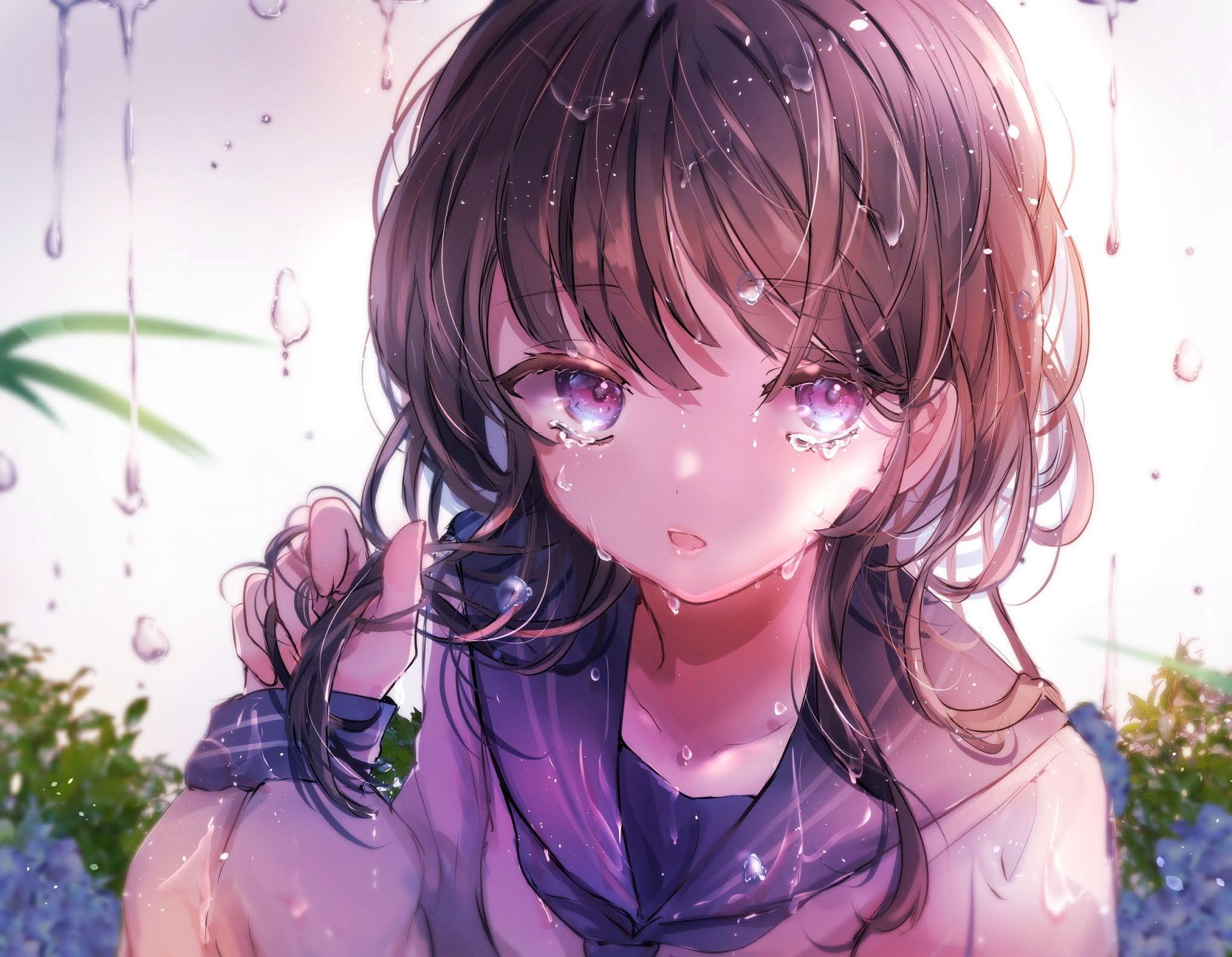 sad depressed anime girl