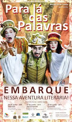 """Espetáculo itinerante """"Para Lá das Palavras"""" será apresentado às crianças da rede municipal na terça 7/06"""