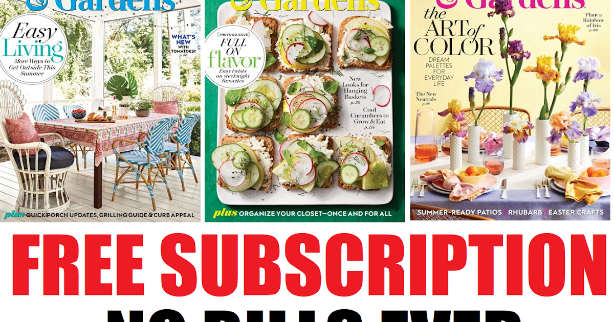 Free Subscription To Better Homes And Gardens Magazine Nothing To