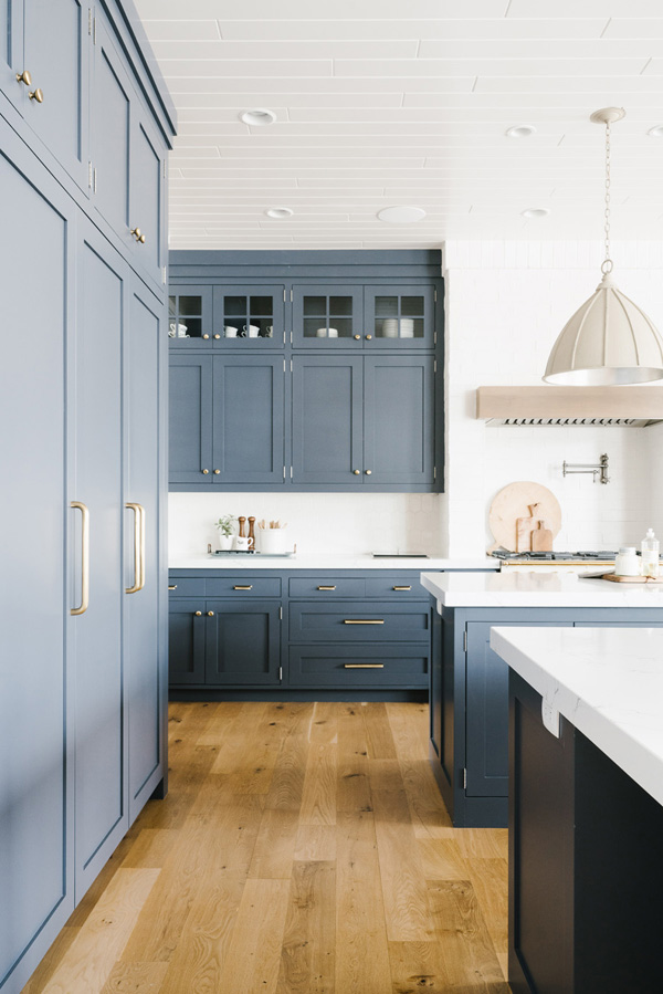 Benjamin Moore Evening Dove Cabinets