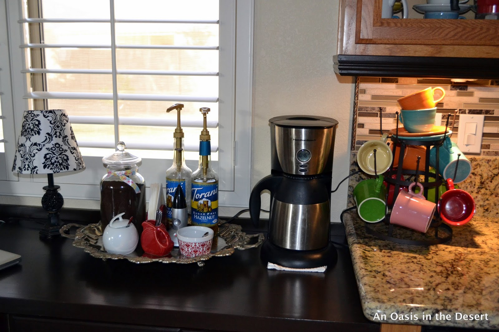 Coffee Cup Rack Under Cabinet An Oasis In The Desert Coffee Coffee I Love My Coffee