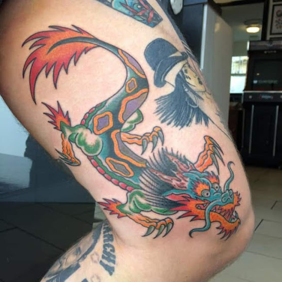 New  Dragon Tattoos designs For Thigh