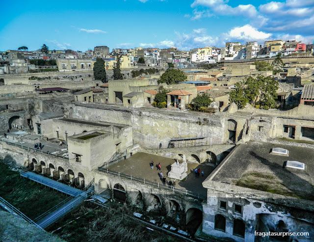 Visão geral do Sítio Arqueológico de Herculano