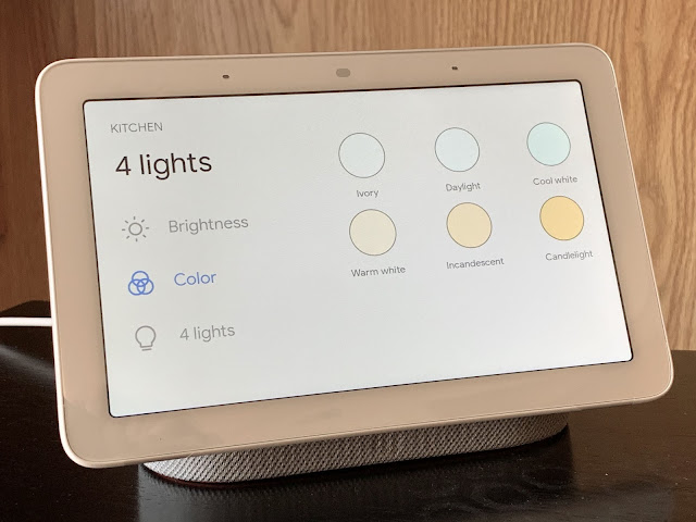 To easily reach 'Home power,' swipe down on Nest Hubs once more.