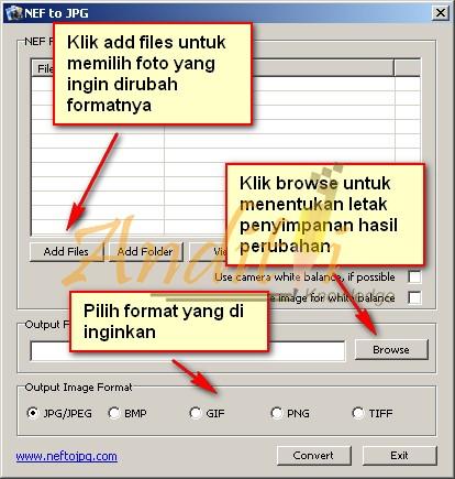 Cara Merubah Format .NEF kedalam format image lainnya