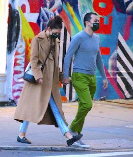 katie holmes walking to emilio s restaurant in soho ny 10 20 2020 2