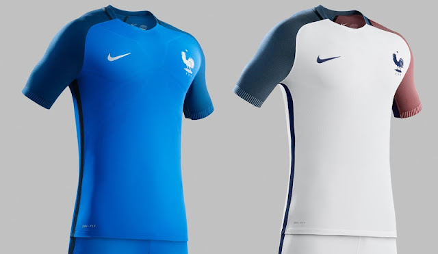 Host nation France s kits are pretty different from the nation s usual  look. The two tone blue on the first kit and the different colored sleeves  paying ... 725799137