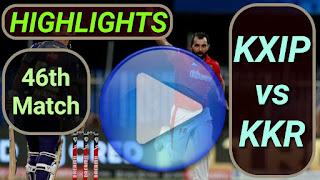 KXIP vs KKR 46th Match