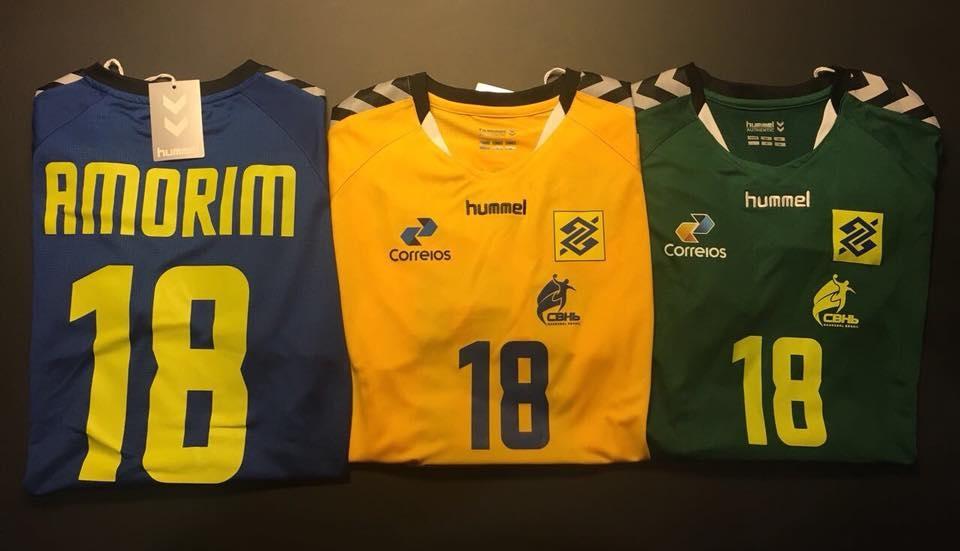 7f8f759633c9d Hummel lança as novas camisas da Seleção Brasileira de handball ...