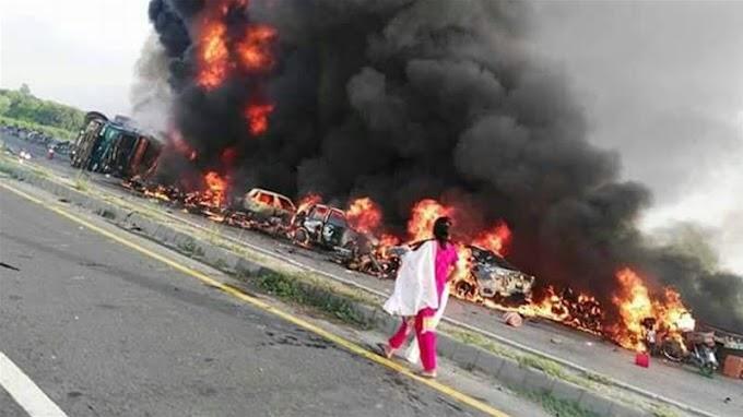 Tanker blaze kills at least 123 people in Pakistan