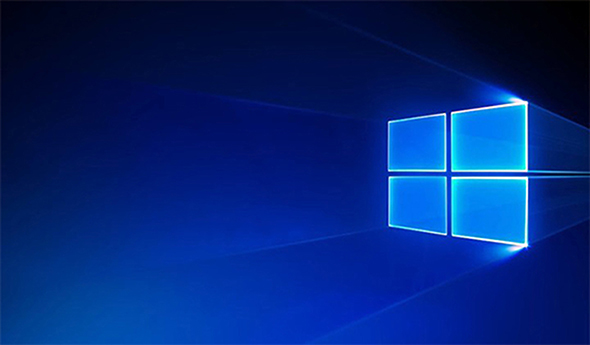 windows 10 desktop,Start updating windows 7 to windows 10,blue light coming through a window on the right side into a dark blue room,