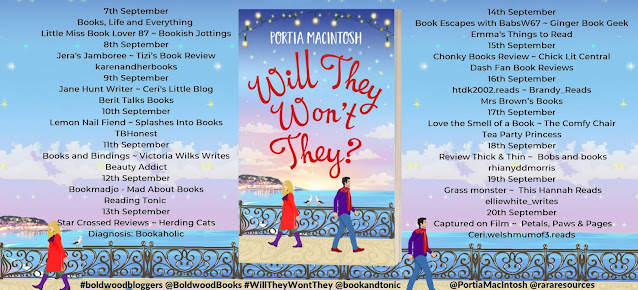Will They, Won't They? by Portia MacIntosh blog tour banner
