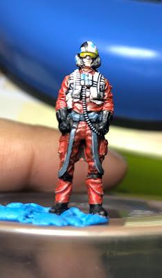 Bandai 1/72 Resistance X-Wing Poe Dameron Pilot Figure Painted