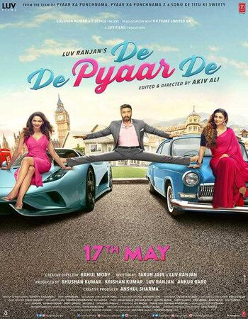 De De Pyaar De (2019) Hindi 480p HDRip x264 400MB ESubs Movie Download