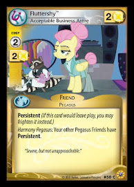 MLP Fluttershy, Acceptable Business Attire Friends Forever CCG Card