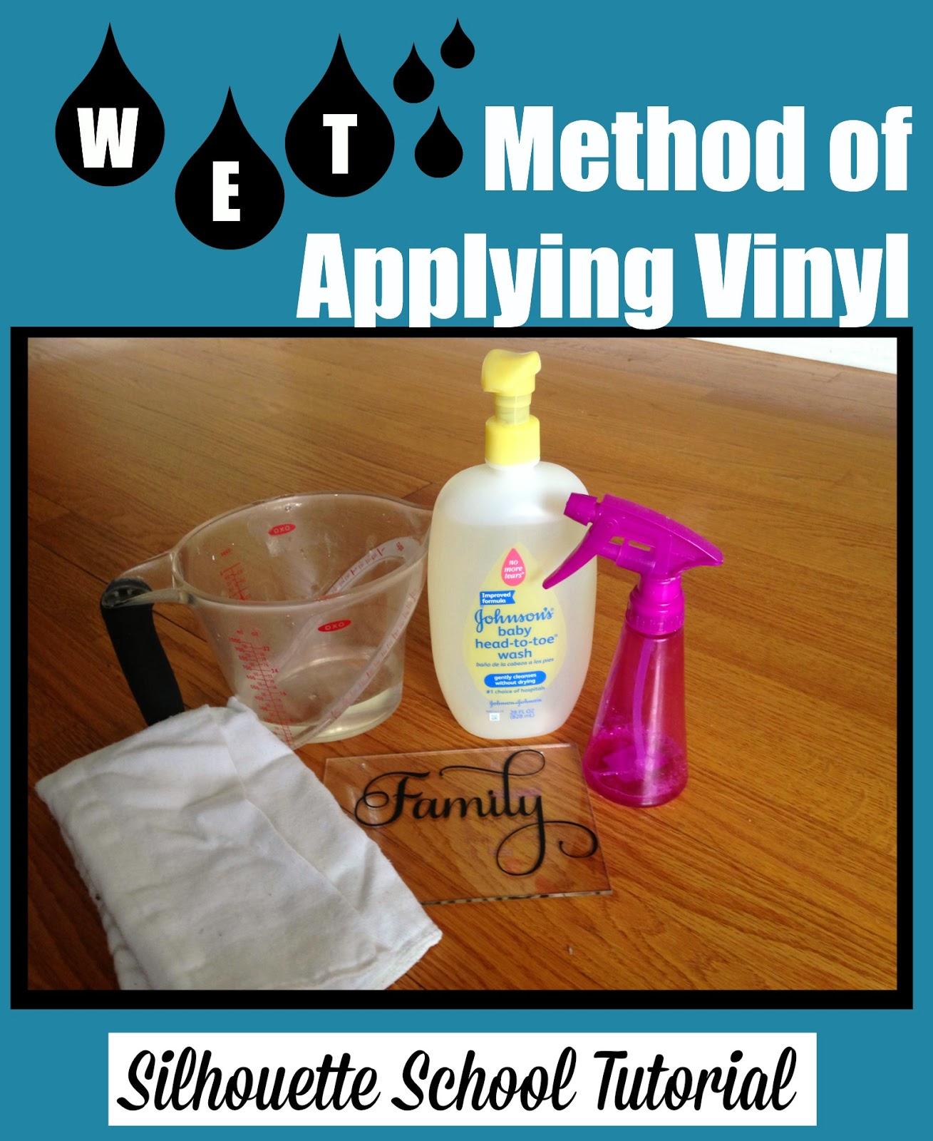 Silhouette tutorial, vinyl, wet method, applying