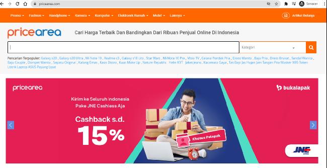 situs pembanding harga terbaik pricearea