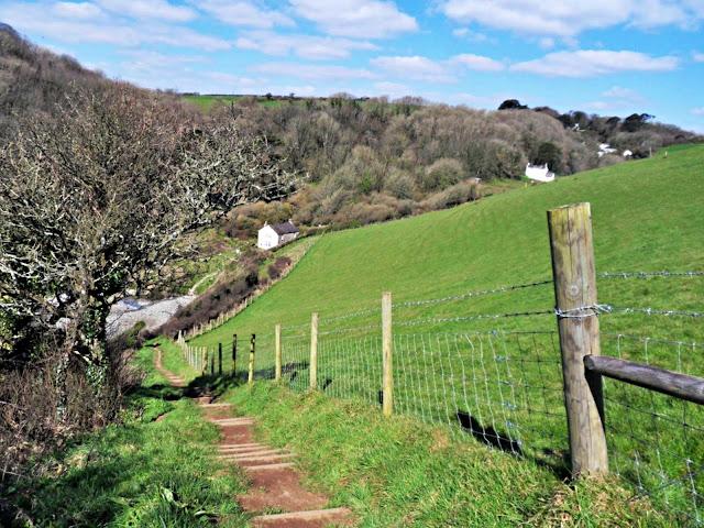 The coastal path on Cornwall's south coast