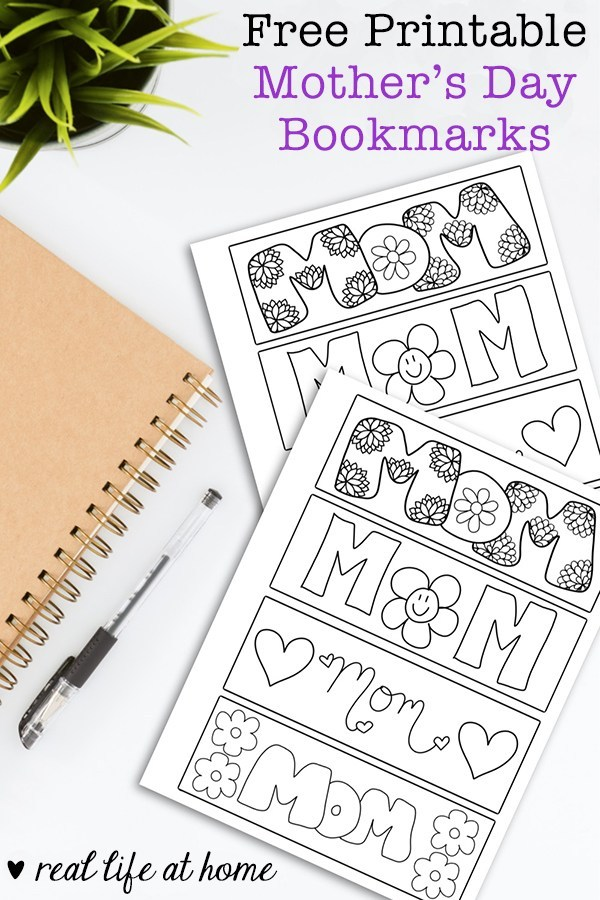 Free printable mothers day bookmarks for mom