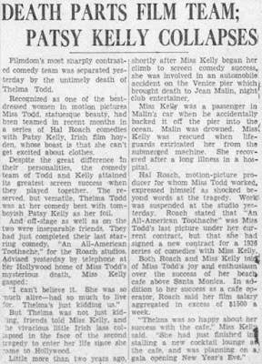 Thelma Todd Patsy Kelly Article