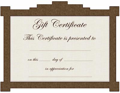 Printable Gift Certificate Template Pdf Bhauj