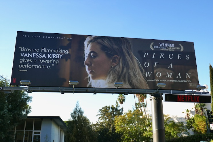 Vanessa Kirby Pieces of a Woman FYC billboard