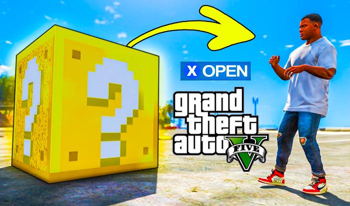 GTA V Lucky Blocks Mod   Like Minecraft   Download GTA 5 Mod