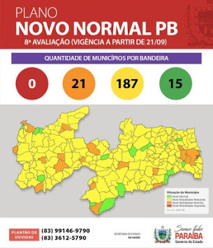 São João do Tigre continua na bandeira verde, no PLANO NOVO NORMAL de medidas de combate ao coronavírus