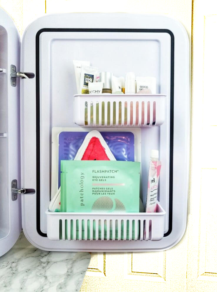 A Skin Care Fridge | Bougie or Beneficial? Door Details