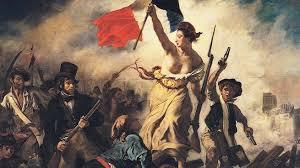 """Romanticismo: Delacroix, """"Libertad guiando al pueblo"""""""