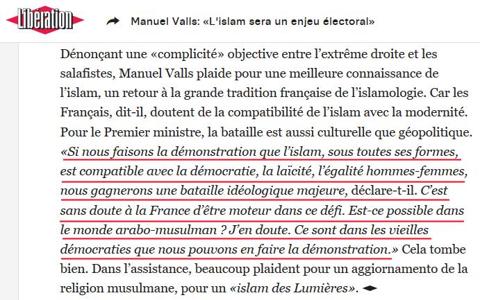 Manuel Valls islam
