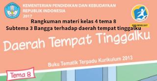 Rangkuman materi kelas 4 tema 8 subtema 3