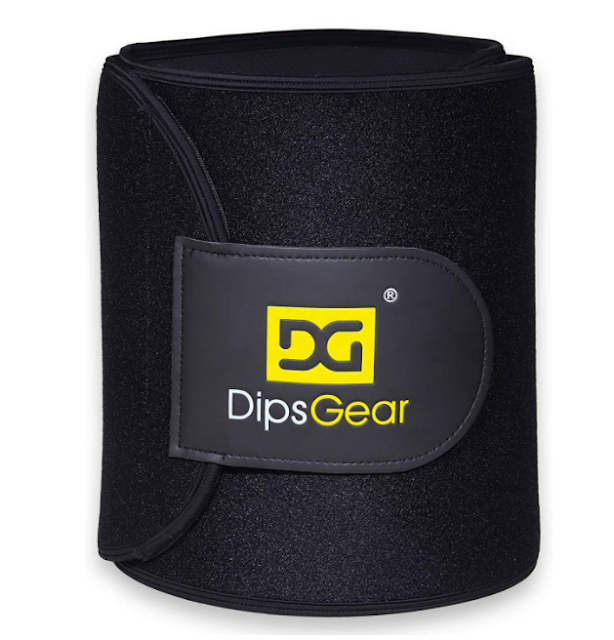 Dips Gear Men and Women Waist Trimmer Neoprene Sweat Slim Body Shaper Belt - Flexible 9.5 Inch Extra Wide (One Size Fits All)