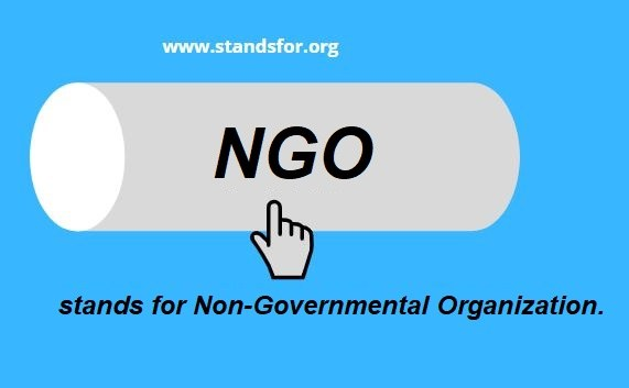 NGO-NGO stands for Non-Governmental Organization.