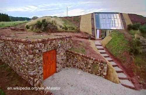 Casa Malator subterránea en Gales, Gran Bretaña