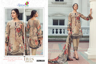 Saniya Trendz Iris Lawn 2019 Pakistani Suits wholesale