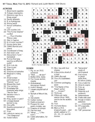 The New York Times Crossword in Gothic: 02.13.13 — GED