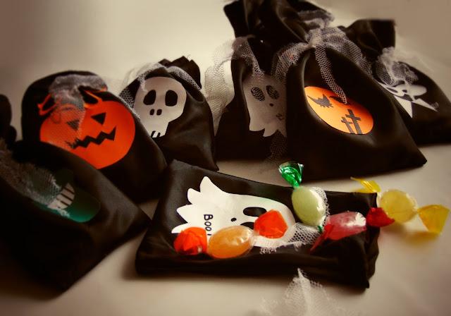 Woreczki na Halloweenowe cukiereczki