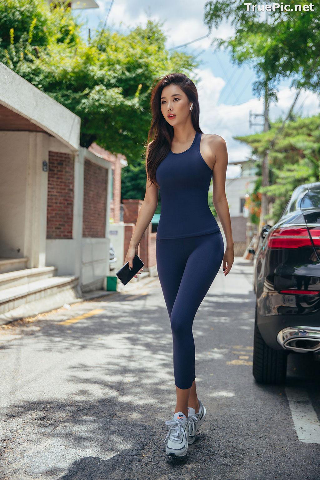 Image Korean Fashion Model - Park Da Hyun - Navy Sportswear - TruePic.net - Picture-12