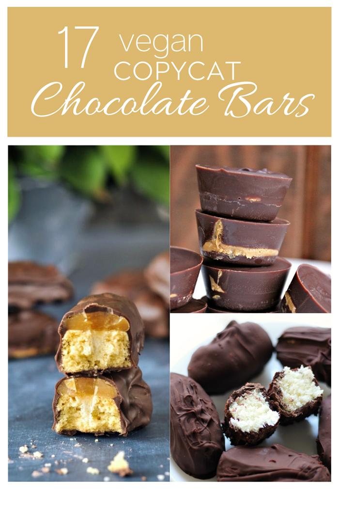 17 Delicious Homemade Vegan Copycat Chocolate Bars
