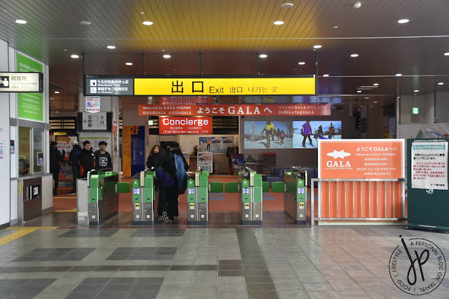 train station exit, concierge, gala yuzawa